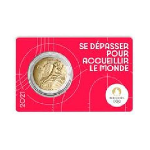 2 Euro France 2021 - Paris 2024 Olympic Games (red BU card)