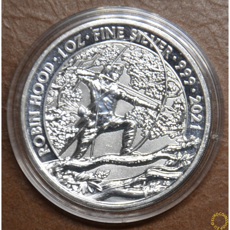 2 pounds Great Britain 2021 Robin Hood (1 oz. Ag)