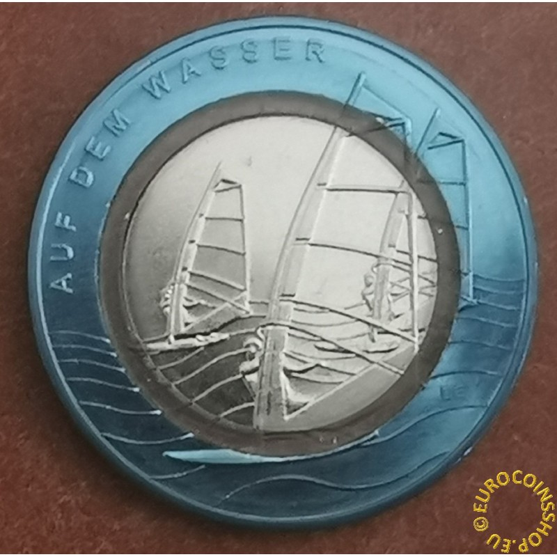 """10 Euro Germany """"D"""" 2021 In the water (UNC)"""