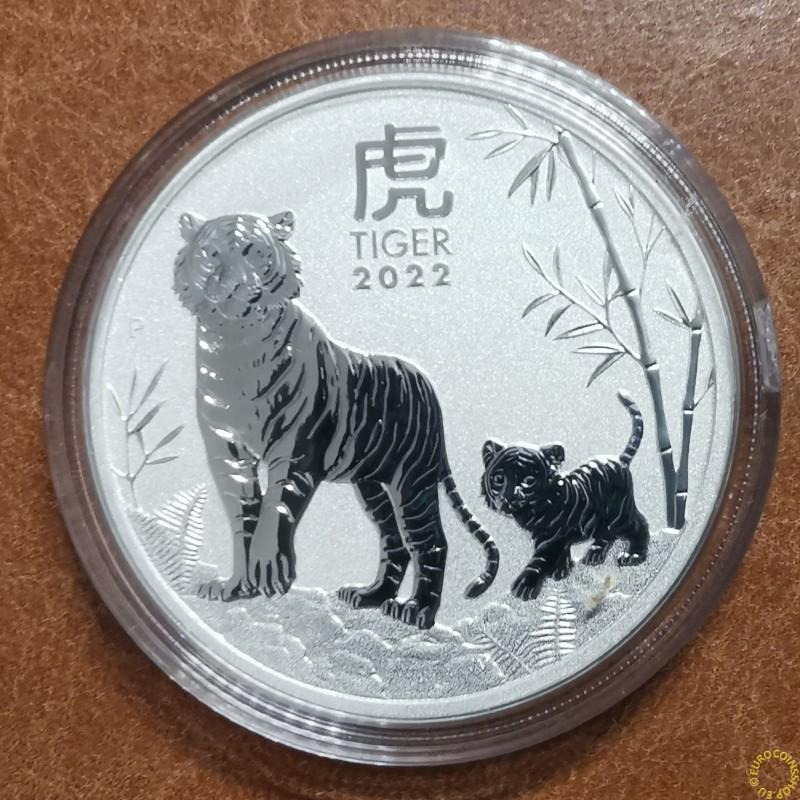1 dollar Australia 2022 -  Year of the Tiger (1 oz. Ag)