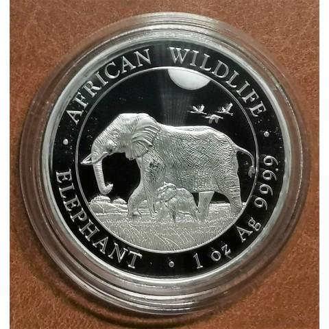 100 Shillings Somália 2022 - Elephant (1 oz Ag)