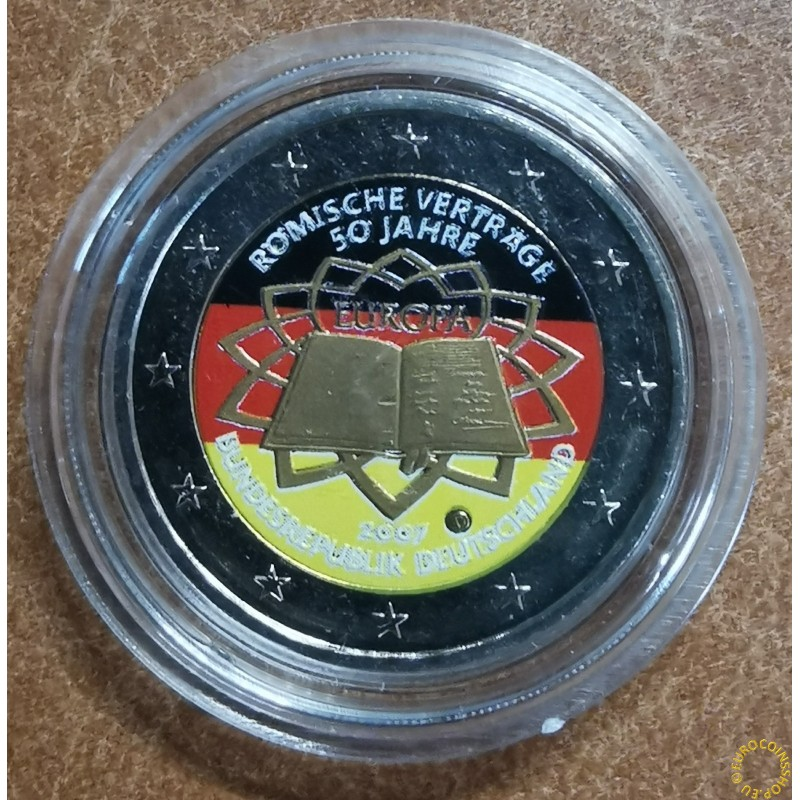 2 Euro Germany 2007 - 50th anniversary of the Treaty of Rome II. (colored UNC)