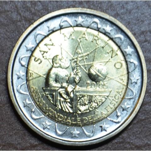 2 Euro San Marino 2005 - Galileo Galilei, year of physics (UNC w/o folder)