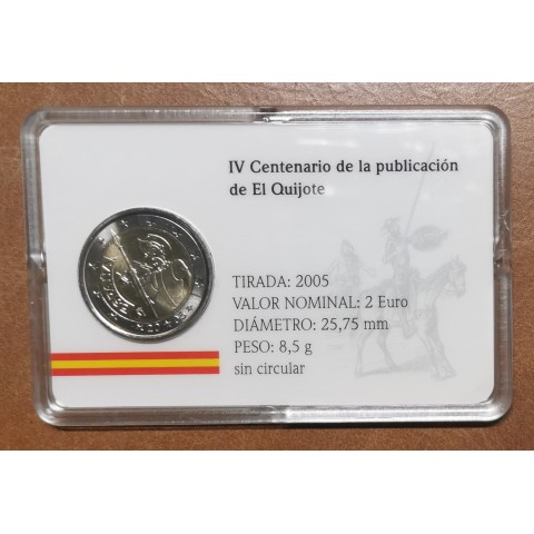 2 Euro Spain - 4th centenary of the first edition of Cervantes' The ingenious gentleman Don Quixote  (UNC)