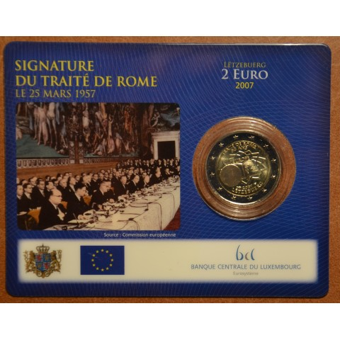 2 Euro Luxembourg 2007 - 50th anniversary of the Treaty of Rome (BU card)