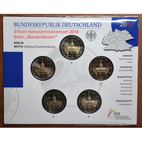 "2 Euro Germany ""ADFGJ"" 2018 - Berlin:  Scharlottenburg (BU card)"