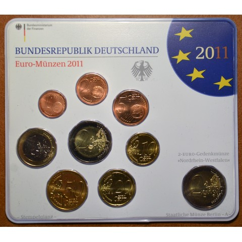 """Set of 9 coins Germany 2011 """"A"""" (UNC)"""