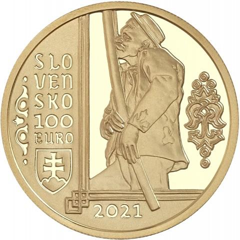 100 Euro Slovakia 2021 - The fujara and its music (Proof)