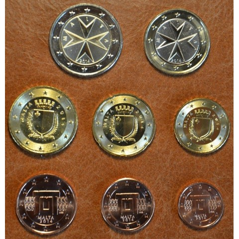 Set of 8 eurocoins Malta 2014 (UNC)