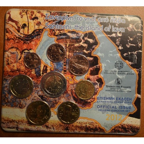 Official set of 8 coins Greece 2012  (BU)