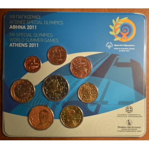 Official set of 8 coins Greece 2011  (BU)