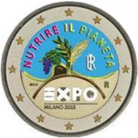 2 Euro Italy 2015 - EXPO Milano 2015 (colored UNC)