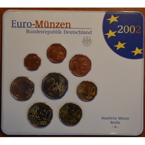 Set of 8 eurocoins Germany 2002 (BU)