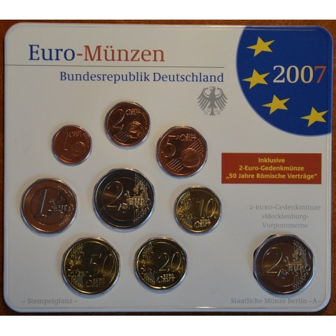 Set of 9 eurocoins Germany 2007 (BU)