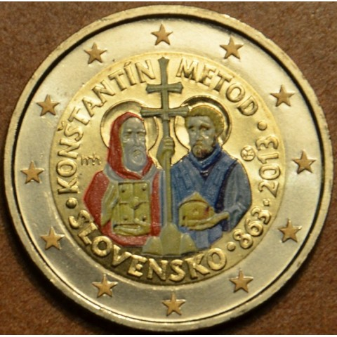 2 Euro Slovakia 2013 - 1150th Anniversary of Cyril and Metod (colored UNC)