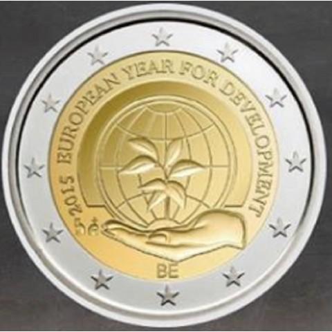 2 Euro Belgium 2015 - European Year for Development  (UNC)