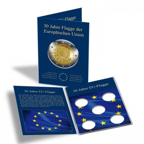 Card for 5 German 2 Euro coins - 30 years of EU flag
