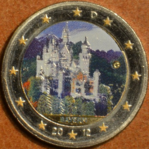 2 Euro Germany 2012 - Bayern: Neuschwanstein II.  (colored UNC)