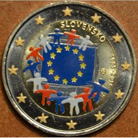 2 Euro Slovakia 2015 - 30 years of European flag (colored UNC)