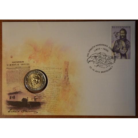2 Euro Slovakia 2015 - Ludovit Stur  with stamp (BU)