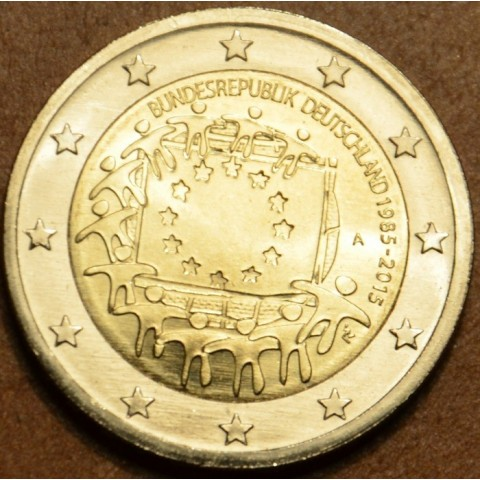 """2 Euro Germany """"A"""" 2015 - 30 years of European flag (UNC)"""