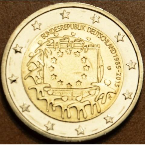 "2 Euro Germany ""G"" 2015 - 30 years of European flag (UNC)"