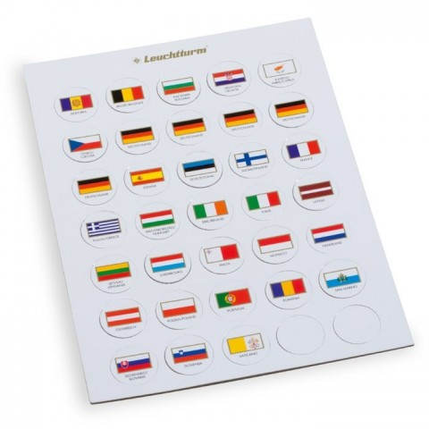 Leuchtturm Flag Chips suitable for 2-Euro Caps