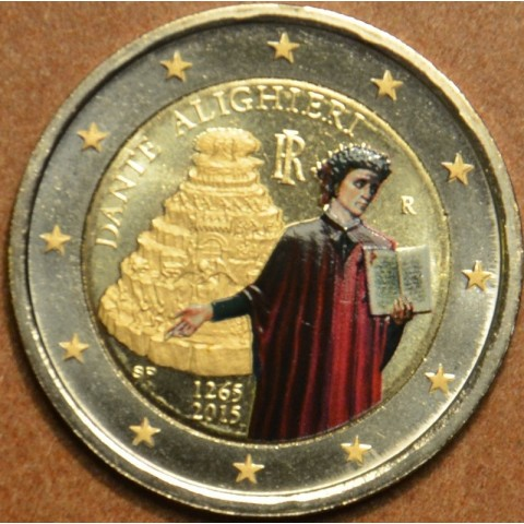 2 Euro Italy 2015 - Dante Alighieri II. (colored UNC)