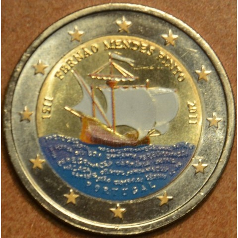2 Euro Portugal 2011 - 500th annivesary of the birth of Fernão Mendes Pinto II. (colored UNC)