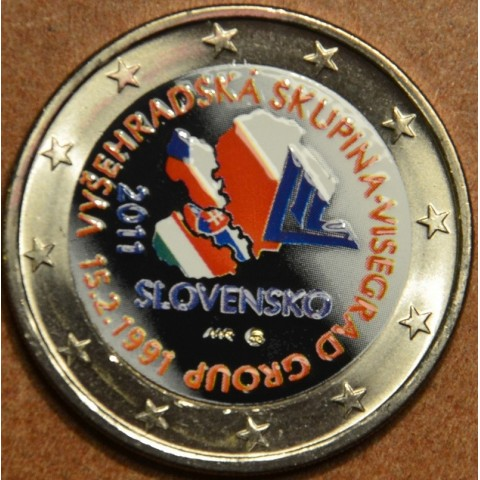 2 Euro Slovakia 2011 - 20th anniversary of the formation of the Visegrad Group II. (colored UNC)