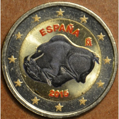 2 Euro Spain 2015 - UNESCO: Caves of Altamira II. (colored UNC)