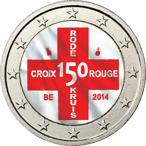 2 Euro Belgium 2014 - 150th Anniversary of the Belgian Red Cross III. (colored UNC)