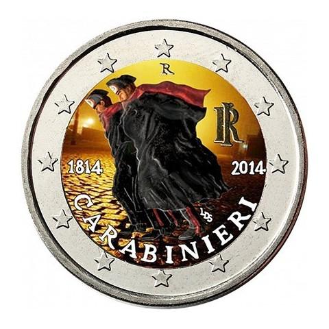 2 Euro Italy 2014 - 200 years of Carabinieri III. (colored UNC)