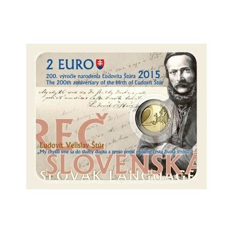 2 Euro Slovakia 2015 - Coin card Ludovit Stur (UNC)