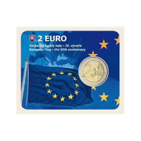 2 Euro Slovakia 2015 - Coin card 30 years of European flag (UNC)