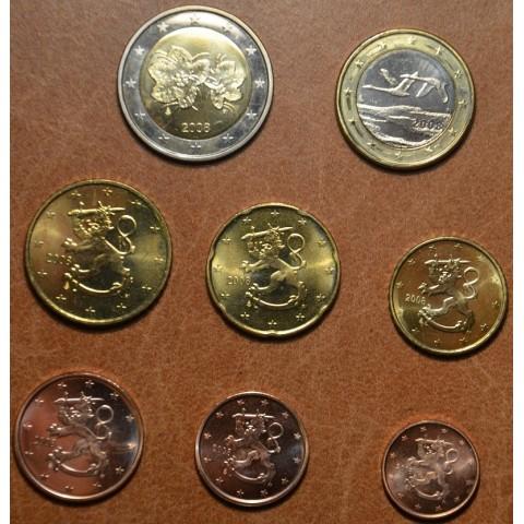 Set of 8 eurocoins Finland 2008 (UNC)