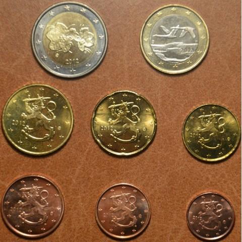 Set of 8 eurocoins Finland 2012 (UNC)