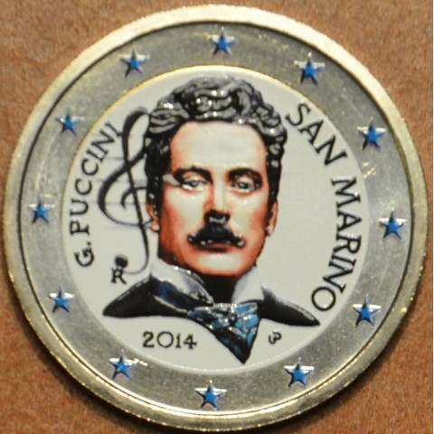 2 Euro San Marino 2014 - 90th anniversary of the death of Giacomo Puccini II.  (colored UNC)