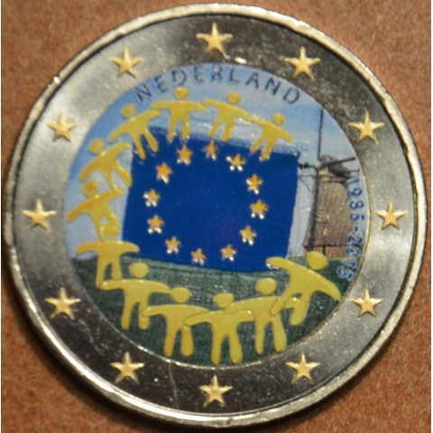 2 Euro Netherlands 2015 - 30 years of European flag III. (colored UNC)