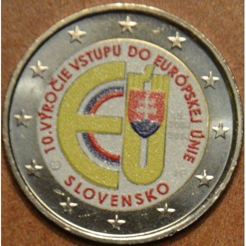 2 Euro Slovakia 2014 - 10 years in EU IV.  (colored UNC)