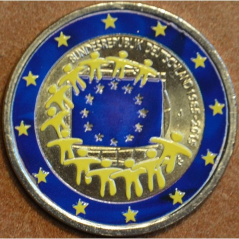 "2 Euro Germany ""J"" 2015 - 30 years of European flag (colored UNC)"