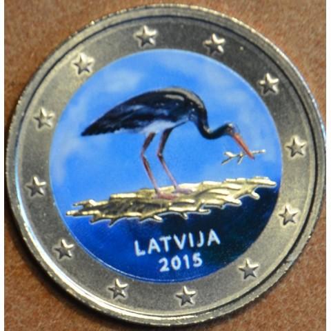 2 Euro Latvia 2014 - Black stork (colored UNC)