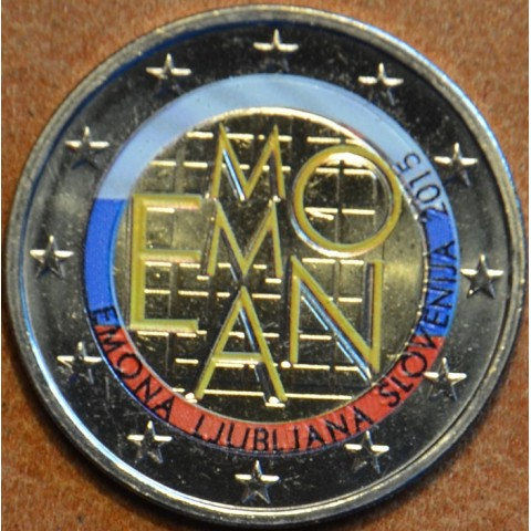 2 Euro Slovenia 2015 - 2000 years of Emona  (colored UNC)