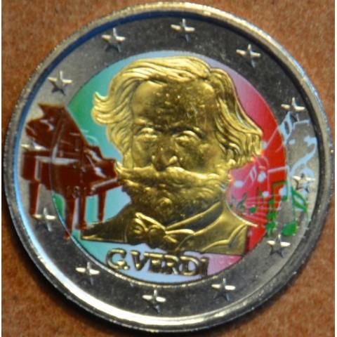 2 Euro Italy 2013 - 200th Anniversary of the Birth of Giuseppe Verdi II. (colored UNC)