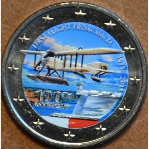 2 Euro Malta 2015 - First flight III. (colored UNC)