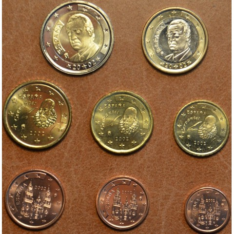 Set of 8 coins Spain 2002 (UNC)