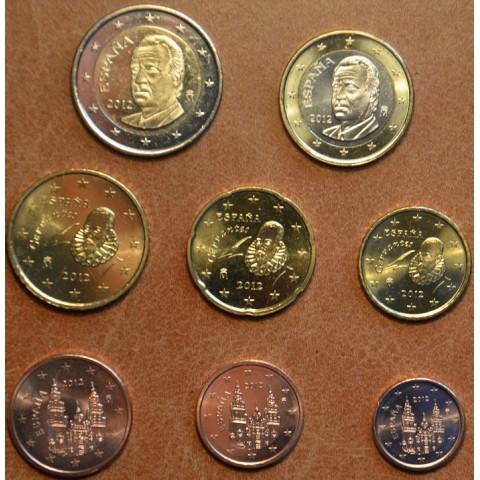 Set of 8 coins Spain 2012 (UNC)