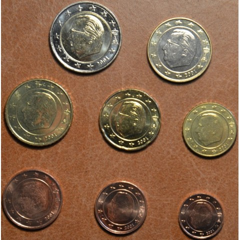Set of 8 coins Belgium 2001 (UNC)