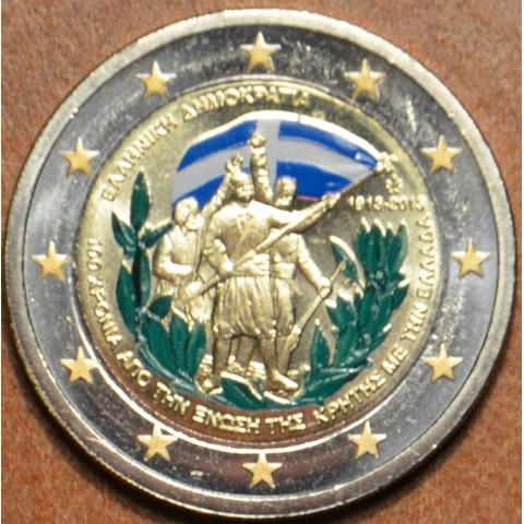 2 Euro Greece 2013 - 100th Anniversary of the union of Crete with Greece II. (colored UNC)