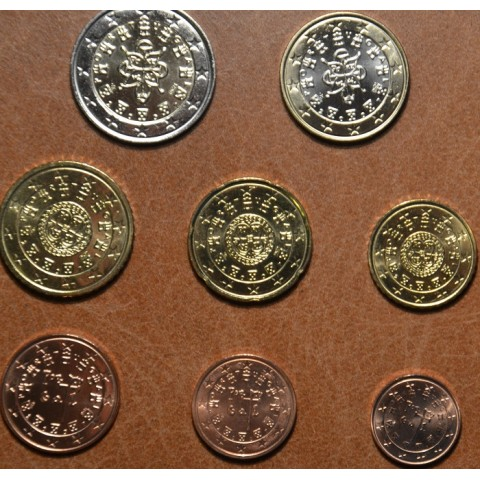 Set of 8 coins Portugal 2007 (UNC)